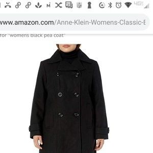 Ann Klein women's classic double breasted coat